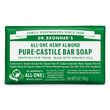 Dr Bronner's - Almond Pure-Castile Bar Soap 140g