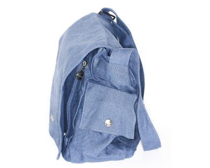sativa hemp bag postman steel blue