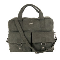 sativa hemp bag double pocket grey