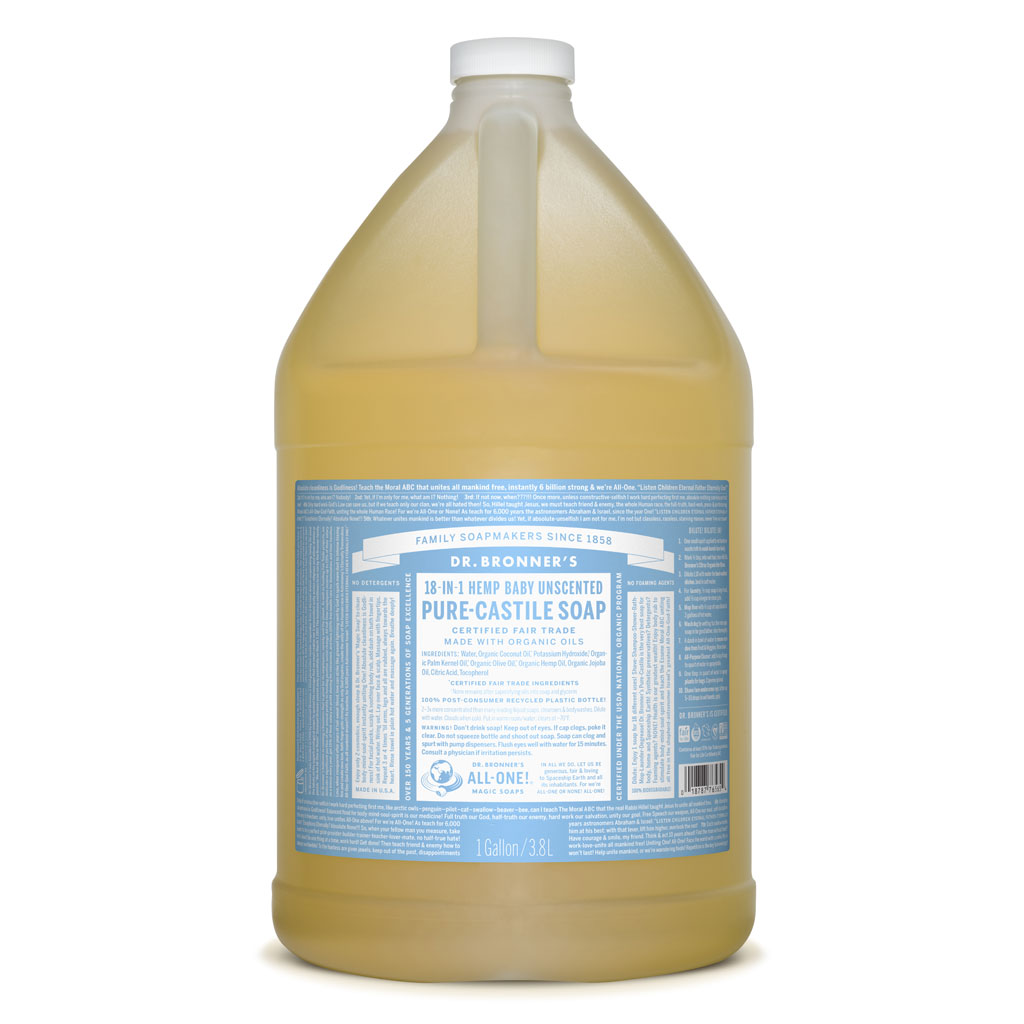 Buy Dr Bronner S Baby Unscented Pure Castile Soap 3 78l