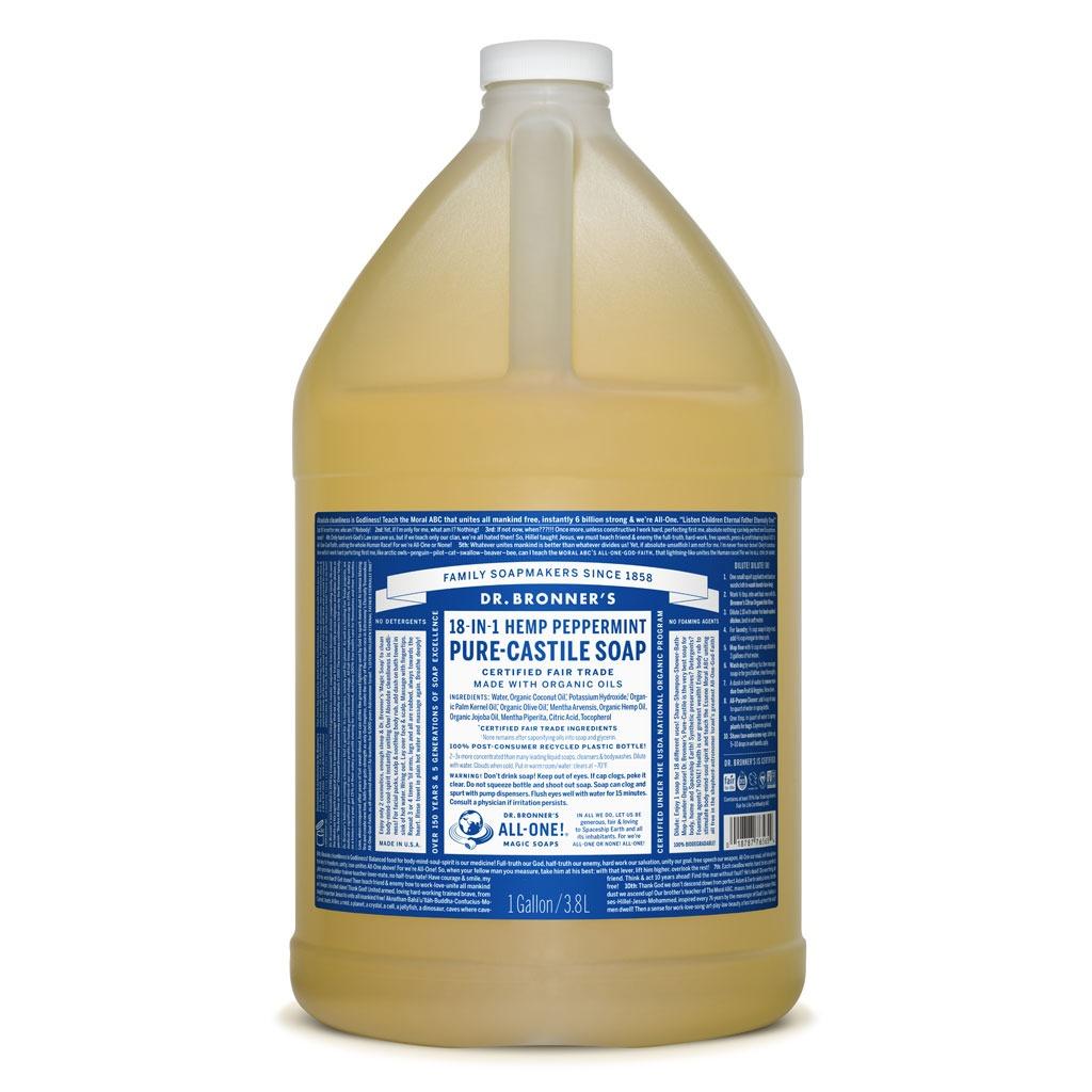 Buy Dr Bronner S Peppermint Pure Castile Soap 3 78l