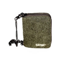 Sativa - Hemp Wallet with Chain Khaki