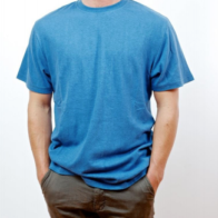 Hemp Clothing Australia - Men's T-Shirt Blue