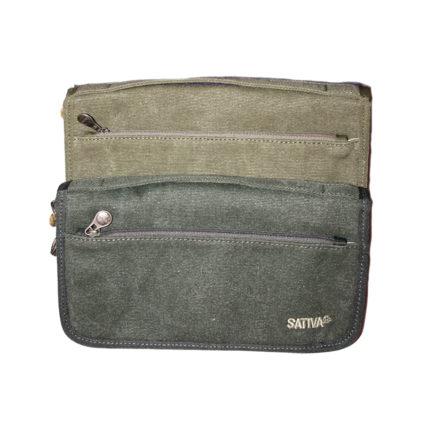 Sativa - Hemp Document Wallet Khaki