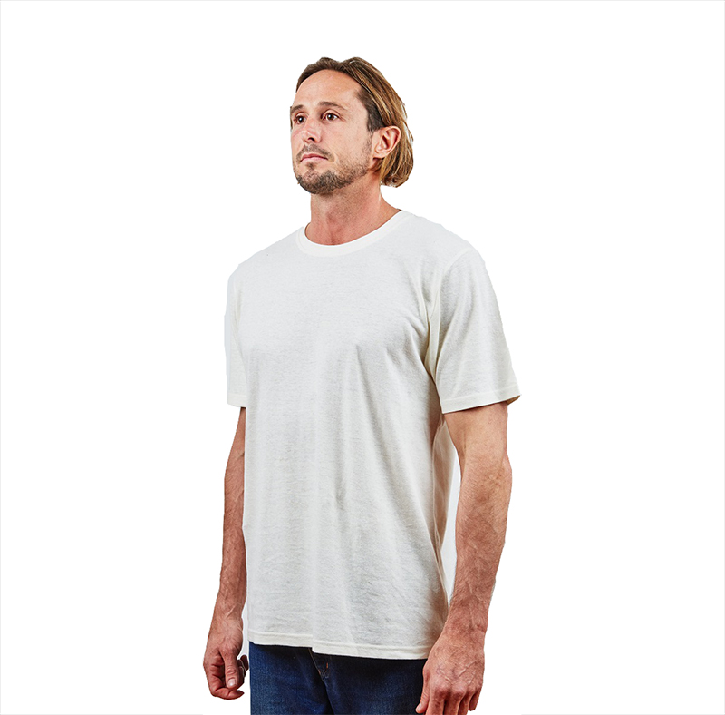 988fe3025268 Buy Hemp Clothing Australia - Men's T-Shirt Natural Online - Hemp Store