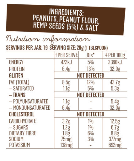 Mayvers - Protein+ Peanut Butter with Hemp Seeds