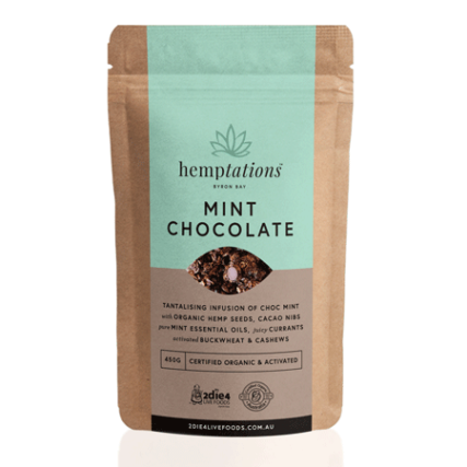 2 Die 4 Live Foods - Hemptations Mint Chocolate 80g
