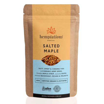 2 Die 4 Live Foods - Hemptations Salted Maple 80g