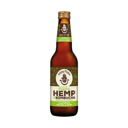 Happy Hippie - Hemp Kombucha Cumcuber, Melon & Mint