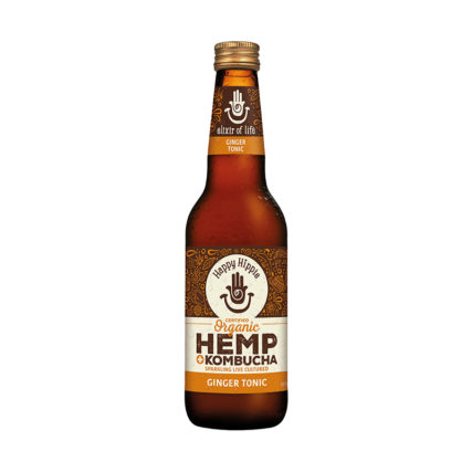 Happy Hippie - Hemp Kombucha Ginger Tonic