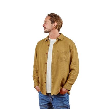 Hemp Clothing Australia - Men's Long Sleeve Button Up Shirt Black