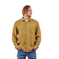 Hemp Clothing Australia - Men's Long Sleeve Button Up Shirt Black