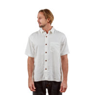Hemp Clothing Australia - Men's Short Sleeve Button Up Shirt Natural