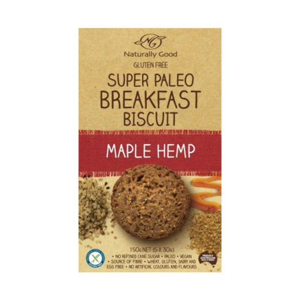 Naturally Good - Super Paleo Hemp Breakfast Biscuit Maple