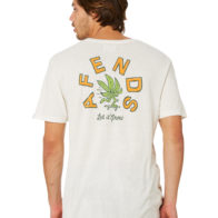 Afends - Let It Grow Standard Fit Tee White
