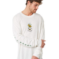 Afends - No Worries Be Happy Retro Fit Long Sleeve Hemp Tee