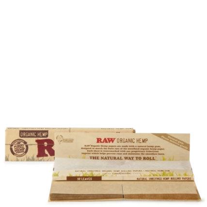 Raw - Organic Hemp King Slim Papers With Tips