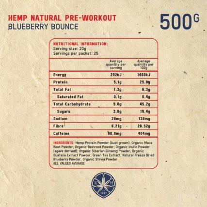 Royal Hemp - Hemp Natural Pre-Workout Blueberry Bounce
