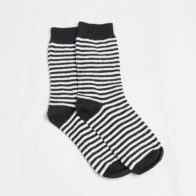 Hemp Clothing Australia - Daily Hemp Socks - Black Stripe - M 3-6 W 5-8 Small