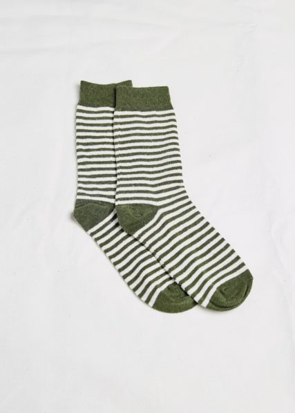 Hemp Clothing Australia - Daily Socks - Olive Stripe