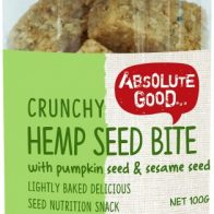 Absolute Good - Crunchy Hemp Seed Bites with Black and White Sesame Seeds - 100g