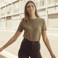 hemp clothing australia women's classic hemp t-shirt in olive