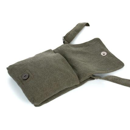 Sativa Metro Hemp Bag in Khaki Open Front