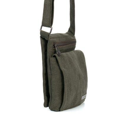 Sativa Metro Hemp Bag Khaki Side