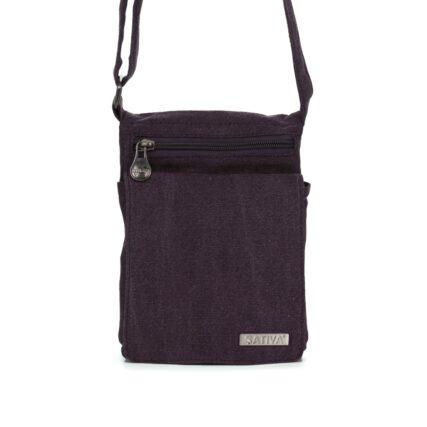Sativa Metro Hemp Bag in Plum