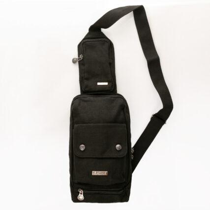 Sativa Sling Hemp Bag in Black