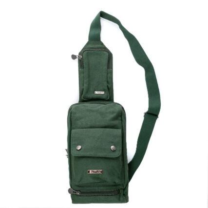 Sativa Sling Hemp Bag in Green