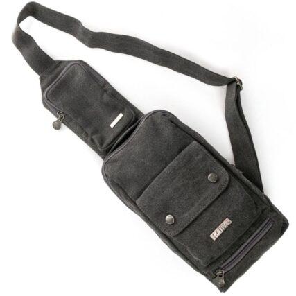 Sativa Sling Hemp Bag in Grey