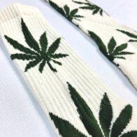 Hemp Clothing Australia- Hemp  Leaf Crew Sock