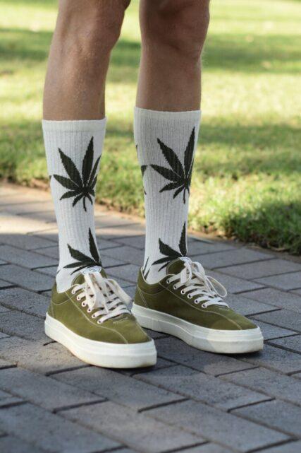 Hemp Clothing Australia - Crew Socks - Leaf
