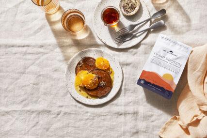 mt elephant chocolate hemp protein pancakes
