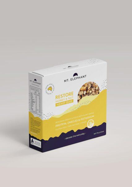 hemp store mt elephant restore honey hep nut bars five pack