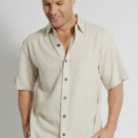 Braintree Hemp Mens Hemp and Rayon Shirt in Bone