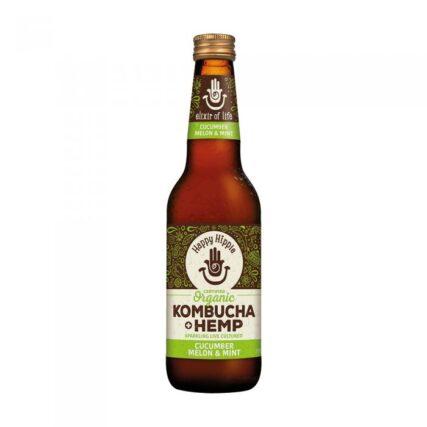 Happy Hippie - Hemp Kombucha Cucumber, Melon and Mint 330ml