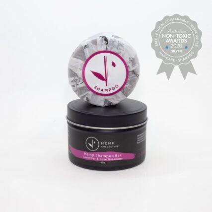 Hemp Collective - Lavender and Rose Geranium Organic Shampoo Bar- 100g
