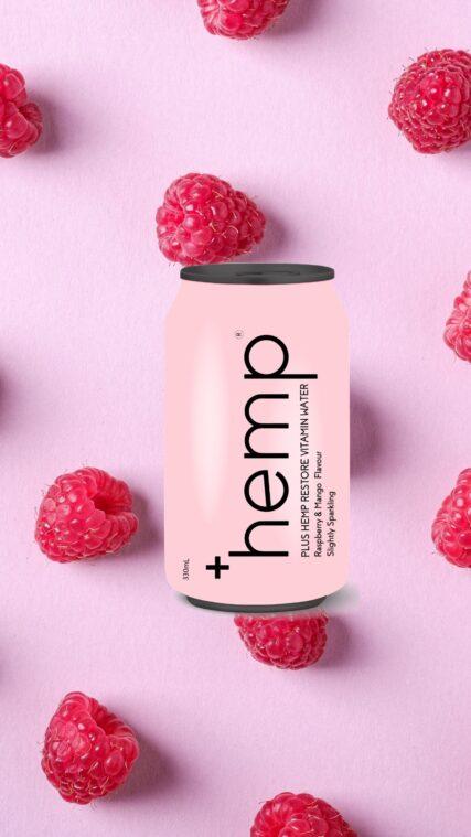 Plus Hemp - Vitamin Water Restore Raspberry and Mango 330ml