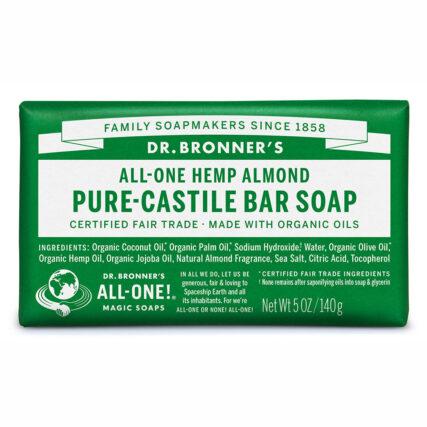 Dr Bronner's - Almond Pure-Castile Bar Soap 140g