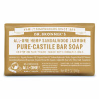 Dr Bronner's - Sandalwood & Jasmine Pure Castile Bar Soap