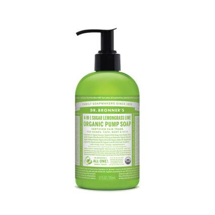 Dr. Bronner's - 4-in-1 Organic Pump Soap - Lemongrass Lime 355ml