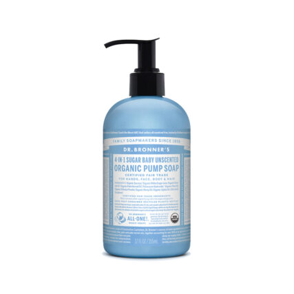 Dr. Bronner's - 4-in-1 Organic Pump Soap - Baby Unscented 355ml