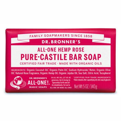 Dr Bronner's - Rose Pure Castile Bar Soap