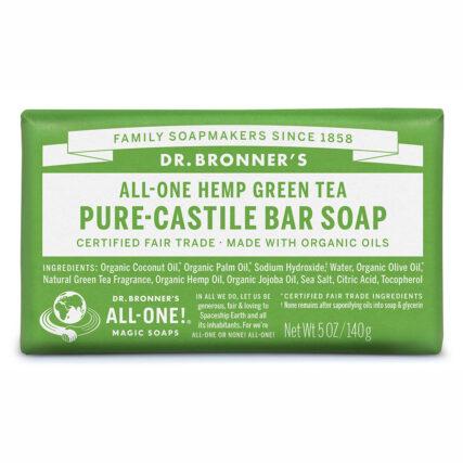 Dr Bronner's - Green Tea Pure Castile Bar Soap
