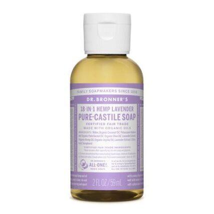 Dr Bronner's - Lavender 59ml Liquid Castile Soap