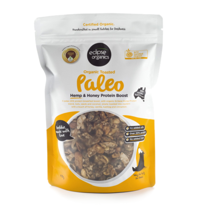 Eclipse Organics - Power Paleo Toasted Hemp & Honey Protein Boost -425g
