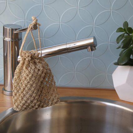 Fair Go Trading - Hemp Macrame Garden Soap Pouch