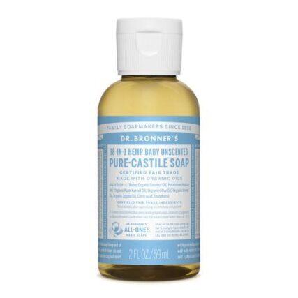 Dr Bronner's - Baby Unscented 59ml Liquid Castile Soap